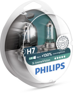 Лампы автомобильные Philips X-treme Vision +130 H7 комплект, 2 шт.