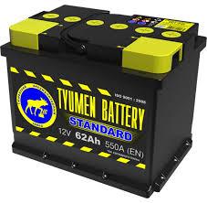 Аккумулятор Тюмень Standard 62A, R+