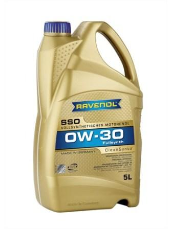 Масло моторное Ravenol SSO 0W-30, 5 л.