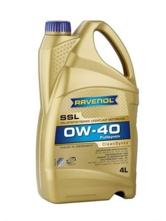 Масло моторное Ravenol SSL 0W-40, 4 л.