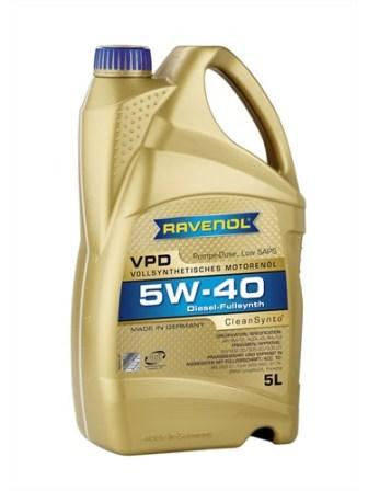 Масло моторное Ravenol VPD 5W-40, 5 л.