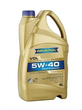 Масло моторное Ravenol VDL 5W-40, 4 л.