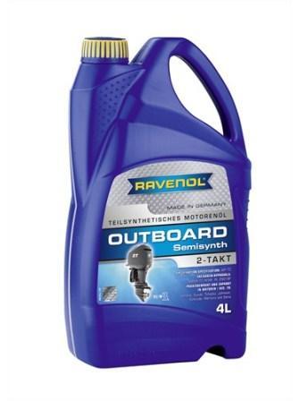 Масло моторное Ravenol Outboardoel 2T Teilsynth, 4 л.