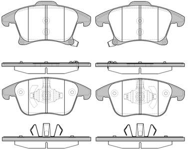 Колодки тормозные Ford Mondeo 15-/S-Max 15- передние