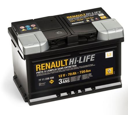 Аккумулятор Renault 70A R+