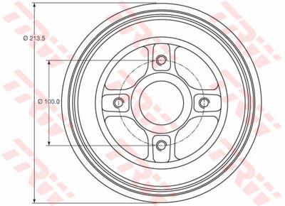 Барабан тормозной Renault Logan/Clio/Megane (d=203mm) с подшипником, кольцом ABS.