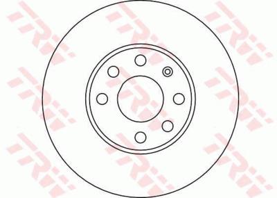Диск тормозной Opel Astra 1.2/1.4 98-05 передний не вентилируемый
