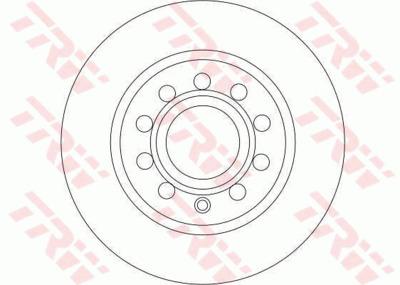 Диск тормозной Audi A3 03-/Skoda Octavia/Yeti/VW Caddy/Golf 03- задний
