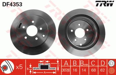 Диск тормозной Nissan Murano/Infiniti FX35/FX45 05- задний