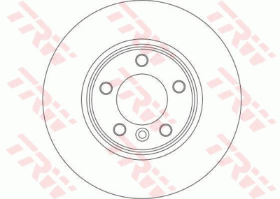 Диск тормозной BMW E60/E61 520-525 03- передний D=310мм.