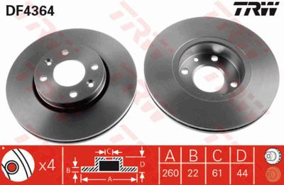 Диск тормозной Nissan Micra 03-/Note 06-/Renault Megane 03-/Clio 05- передний вентилируемый