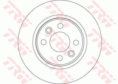 Диск тормозной Renault Logan/Sandero передний не вентилируемый D=259мм