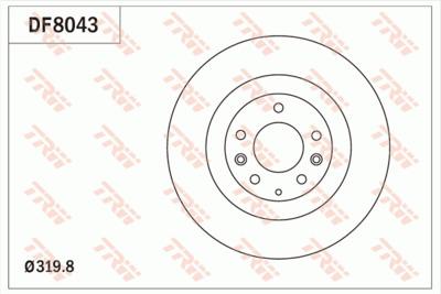 Диск тормозной Mazda CX-7/CX-9 07- передний вентилируемый D=320 mm.