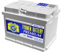 Аккумулятор Тюмень Premium 60A R+, низкий.