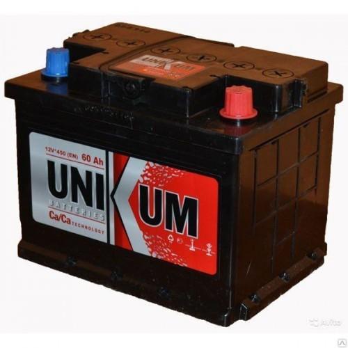 Аккумулятор Unikum 60A, L+