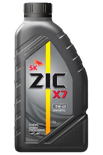 Масло моторное ZIC X7 5W-40, 1 л.